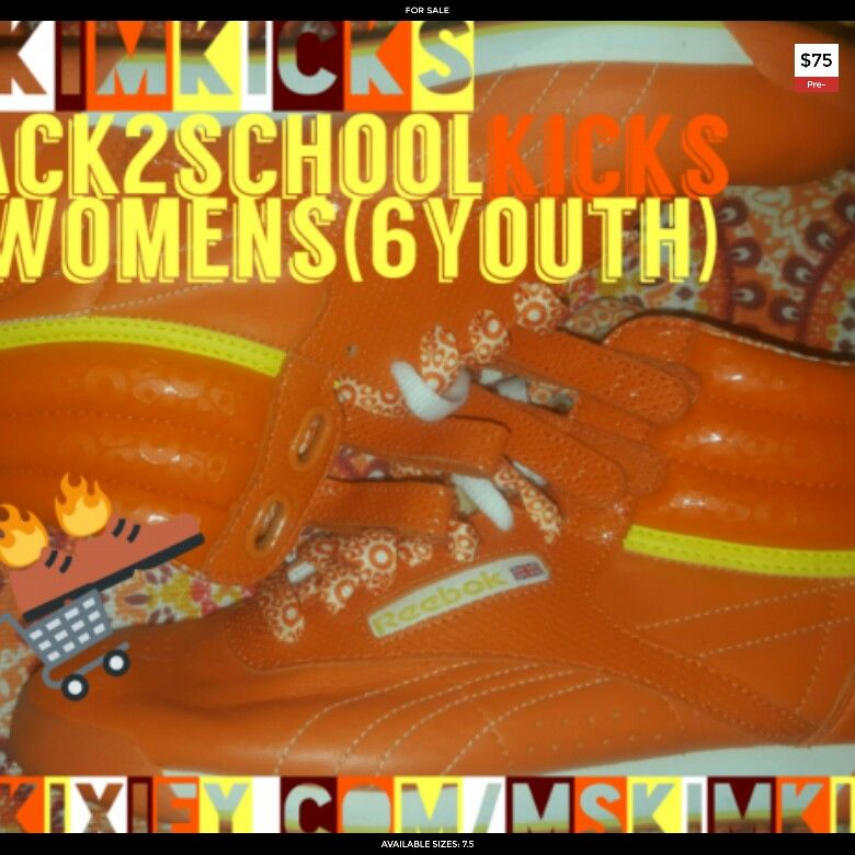 7a0a5532243 Pre-owned Reebok Freestyle Hi Sunkist orange yellow Back2School Sale  Mskimkicks selling size 7.5 Womens(6 Youth) for  75