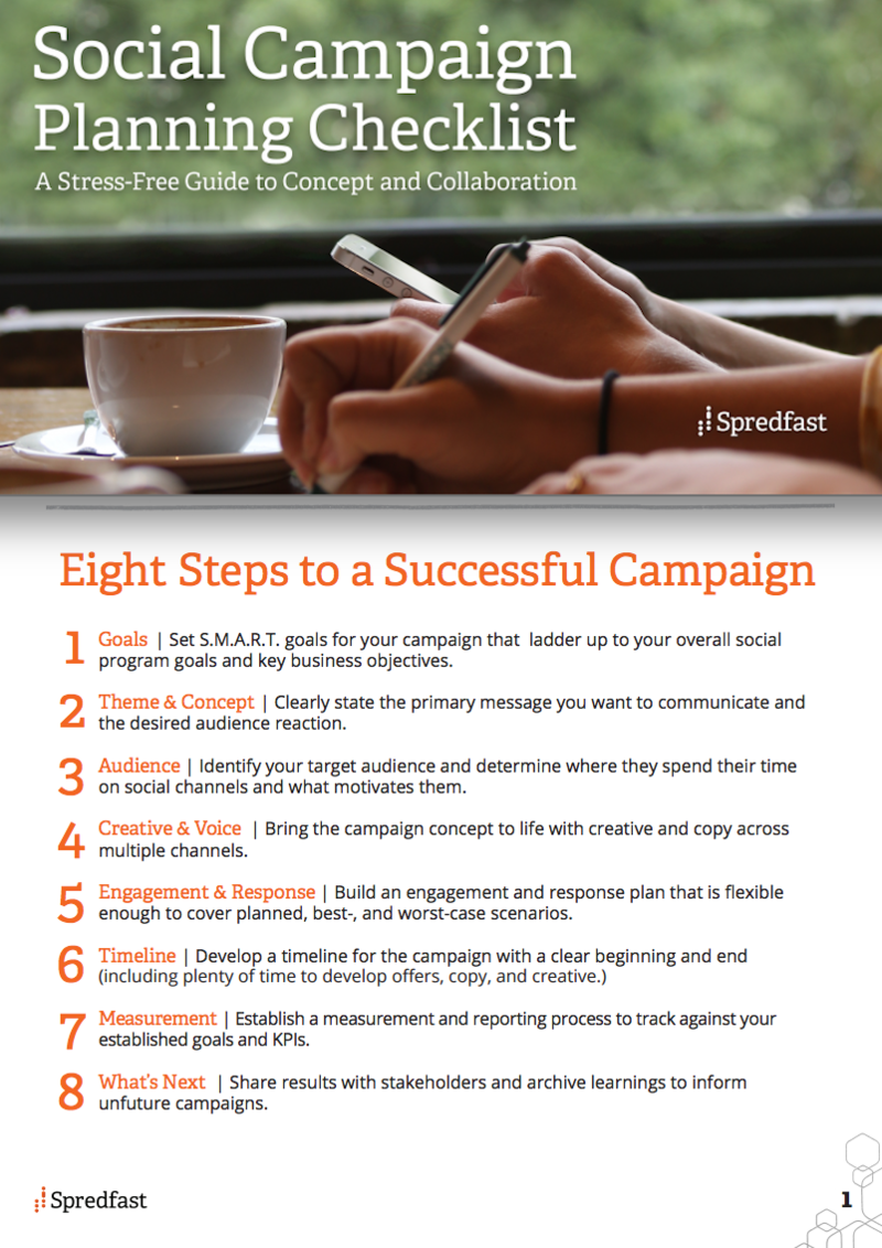what are 8 steps to a successful social campaign plan and checklist