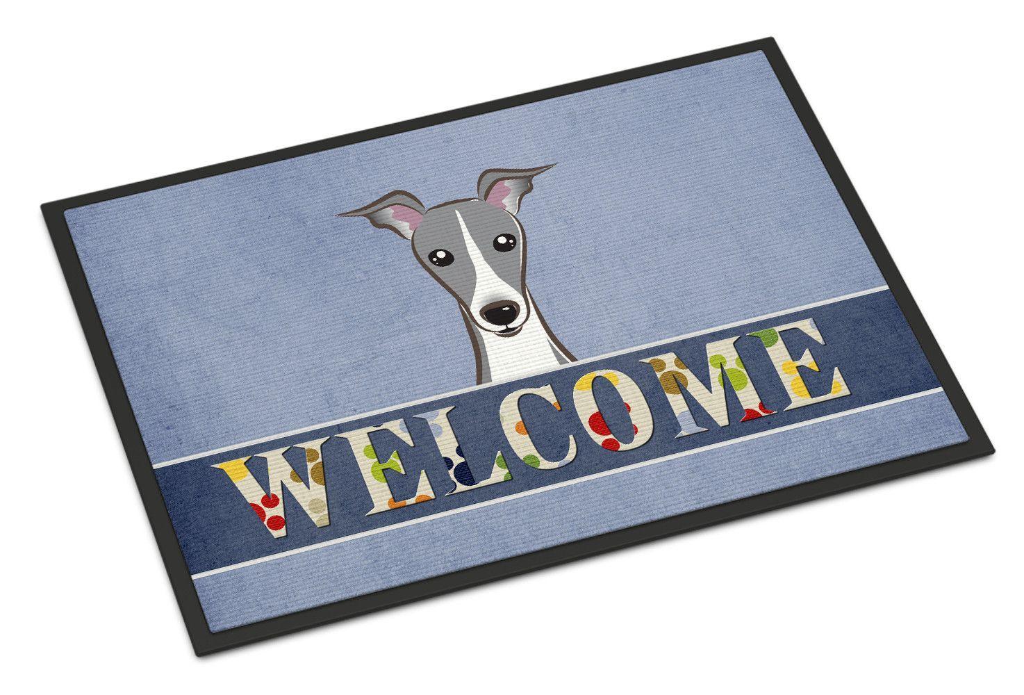 Italian Greyhound Welcome Indoor or Outdoor Mat 18x27 BB1422MAT