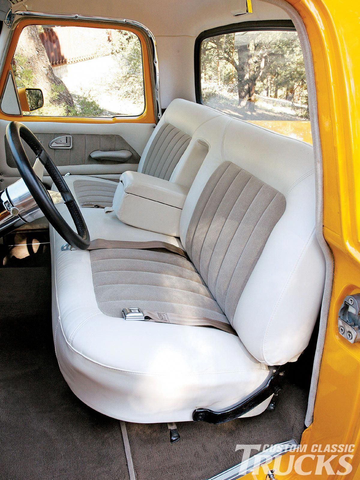 White Leather Dining Chairs Outdoortablesandchairs Chevy Trucks Custom Car Interior 1966 Chevy Truck