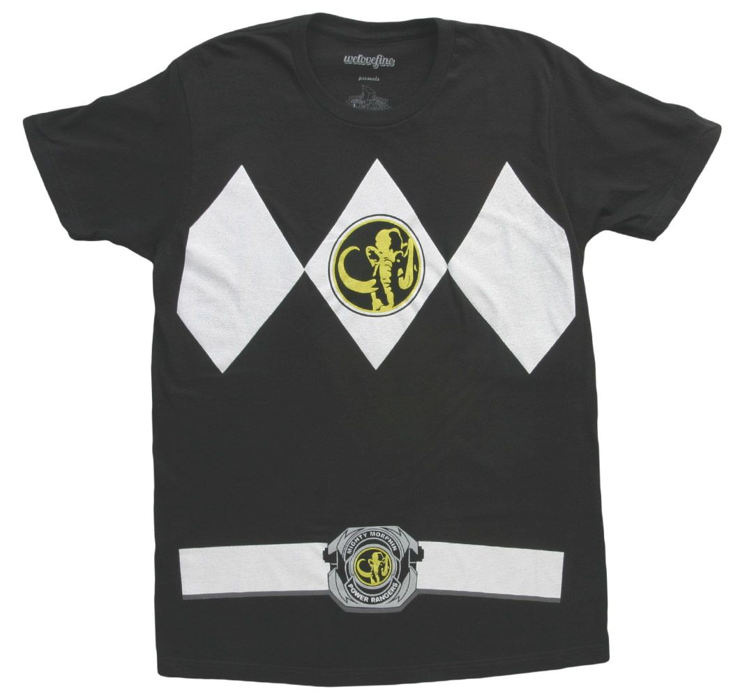 117c4513499 Black Power Ranger Tee - Halloween costume t-shirt