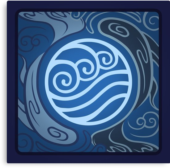 Water Tribe Emblem Insignia Canvas Print By Jentredicho In 2021 Avatar The Last Airbender Art Blue Avatar Water Tribe