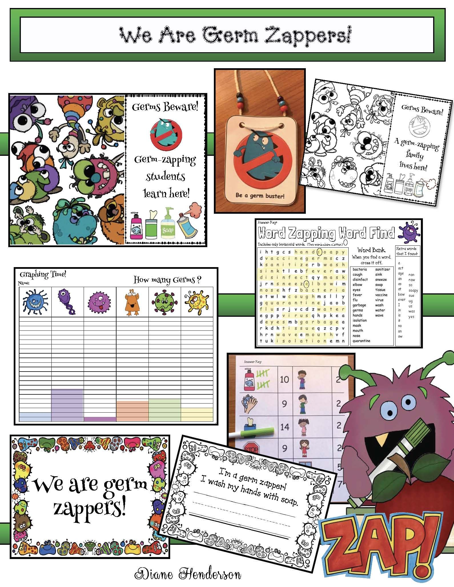 20 Free Pages Of Fun Germ Themed Activities You Can Do