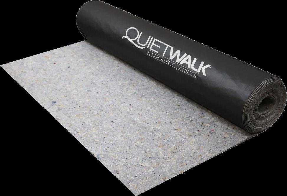 Quietwalk Luxury Vinyl Recycled Flooring Underlayment For Luxury Vinyl Plank Luxury Vinyl Tile And Multi Layer Flo In 2020 Underlayment Concrete Floors Luxury Vinyl