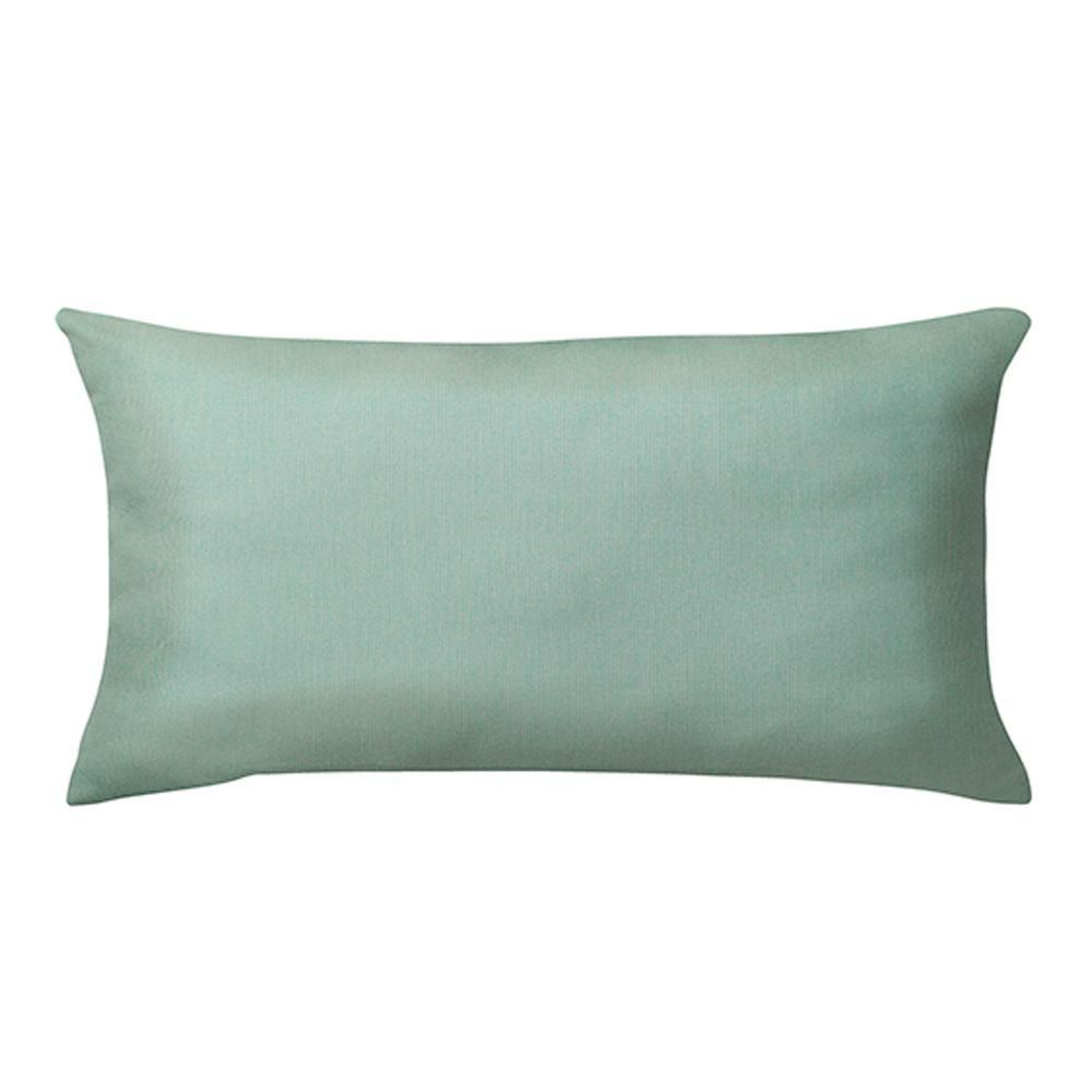 Home Decorators Collection Sunbrella Spectrum Mist Long Outdoor Lumbar Pillow