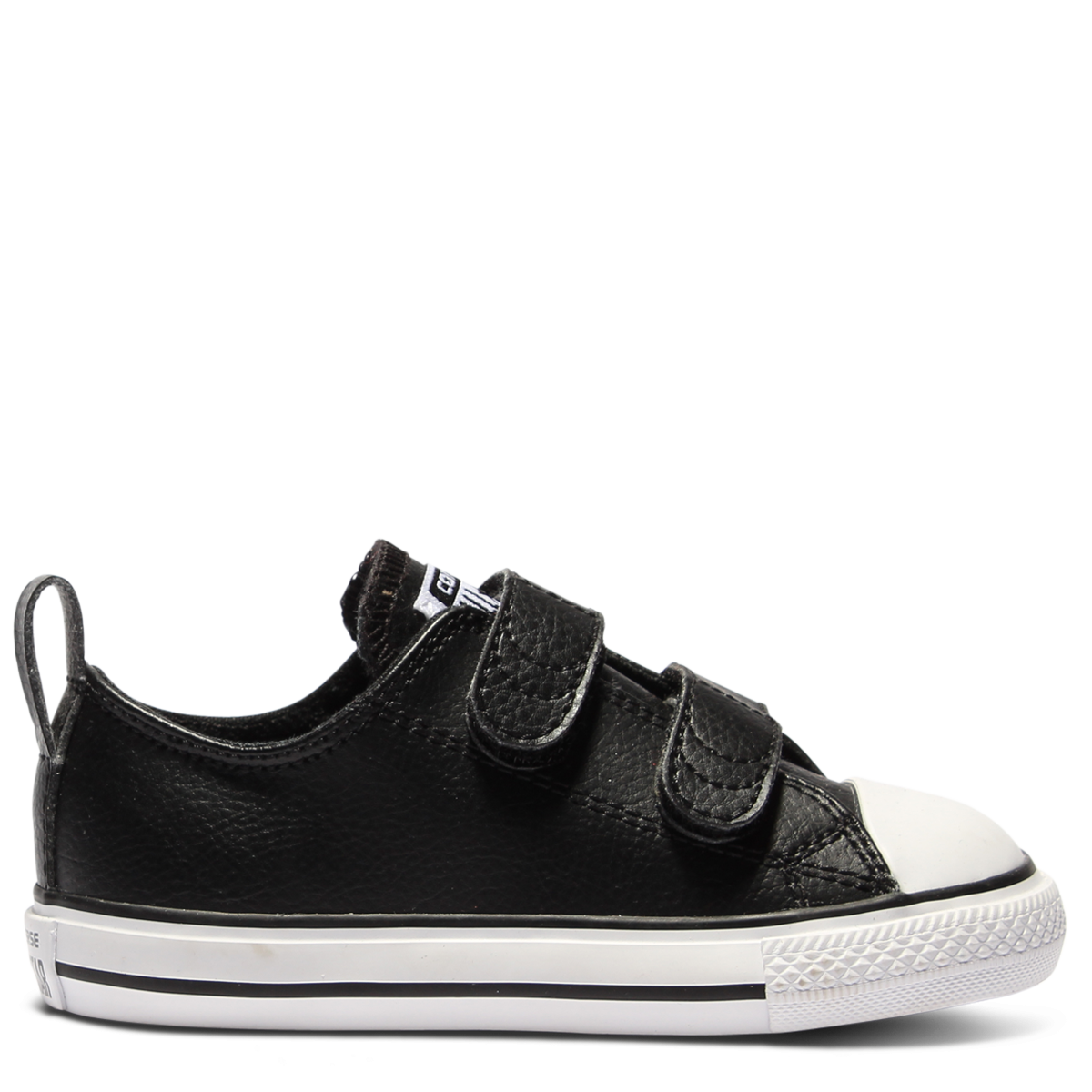 d67368fdcc77 Buy Chuck Taylor All Star 2V Leather Toddler Low Top Black Online ...