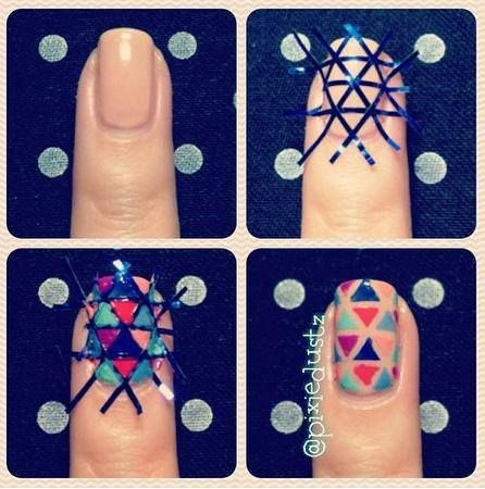 Use Criss Cross Nail Tape To Get This Look