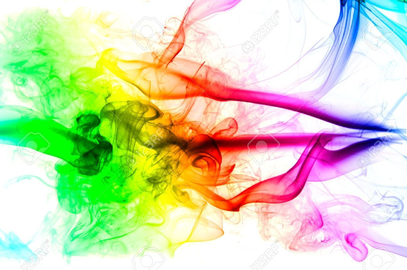 Multi Colored Smoke Background Stock Footage Video