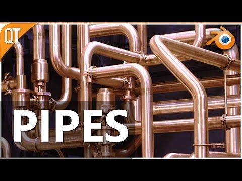 16) Blender quick tip - Pipes - YouTube   TUTORIALS