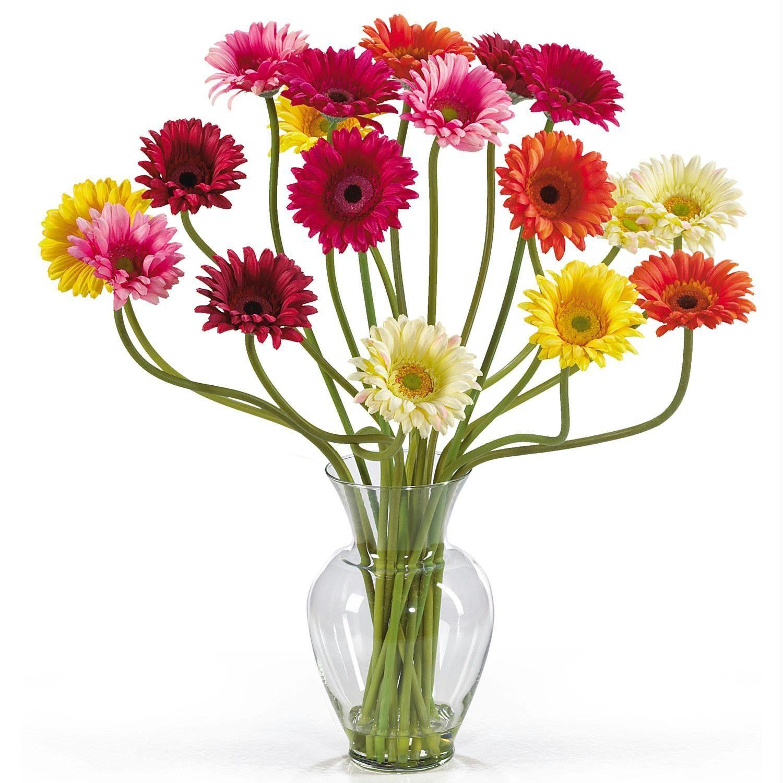 Gerber Daisy Liquid Illusion Silk Flower Arrangement Products