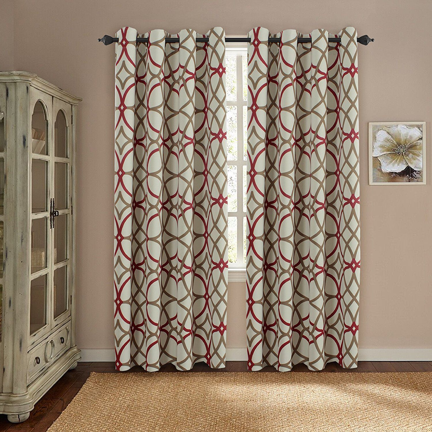 Amazon Com H Versailtex Thermal Insulated Blackout Window Room Grommet Indoor Curtains 52 Inch Wid Curtains Living Room Curtains And Draperies Drapes Curtains #thermal #living #room #curtains