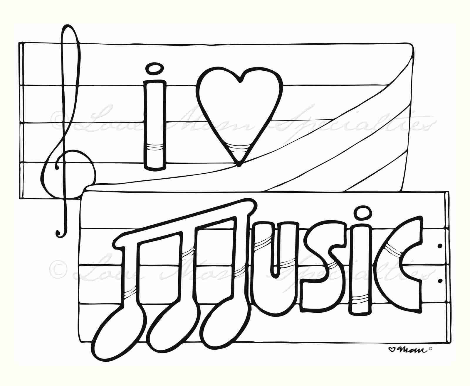 Music Notes Coloring Pages Printable Image Adorable Musical Page