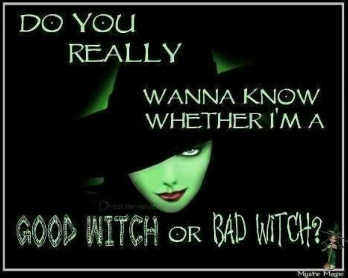 Charming Good Or Bad Witch Witch Halloween Halloween Images Halloween Quotes  Halloween Quote Halloween Humor