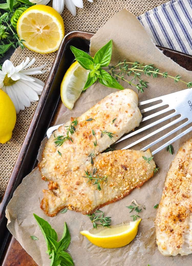 5 Ingredient Almond Crusted Baked Tilapia Recipe Quick Dishes Low Carb Dinner Easy Dinner