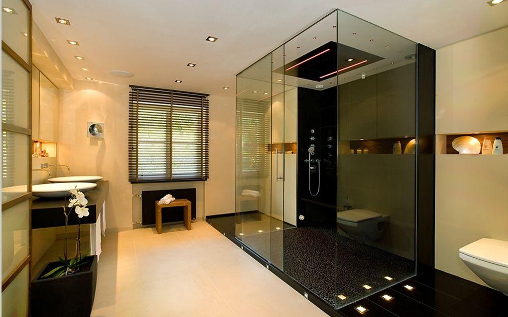 Sauna unseres Musterhauses in der @fertighauswelt Köln Frechen - badezimmer auf kleinem raum