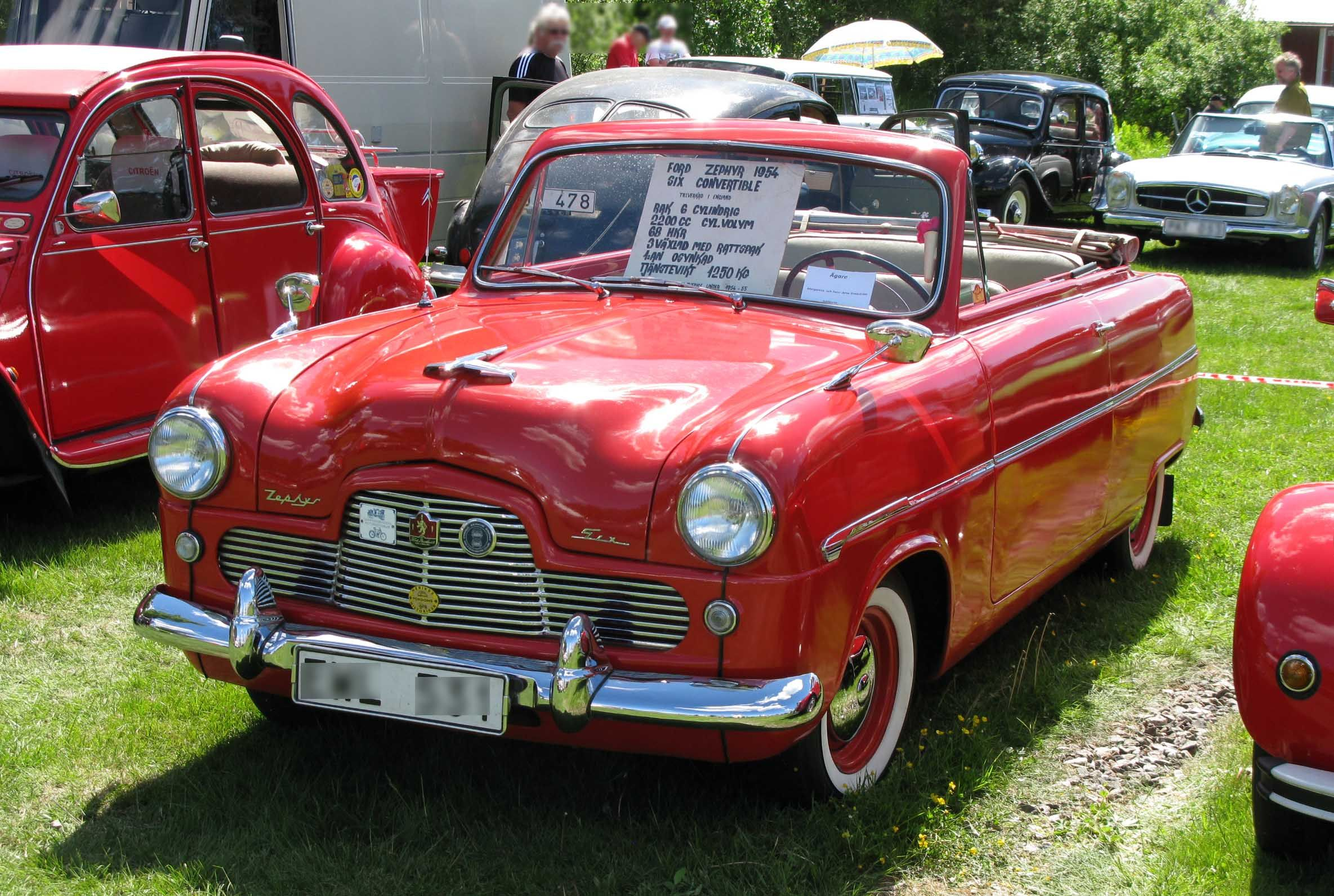 1954 Ford Zephyr Mk I Convertible