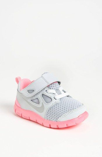 Toddler   baby shoes   girl s Nike sneakers. Pink and grey and oh so  precious! 076c99a70