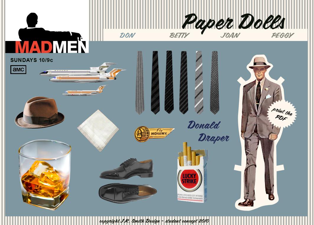 Don Draper - Mad Men Paper Doll   Paper Dolls   Pinterest   Mad ...