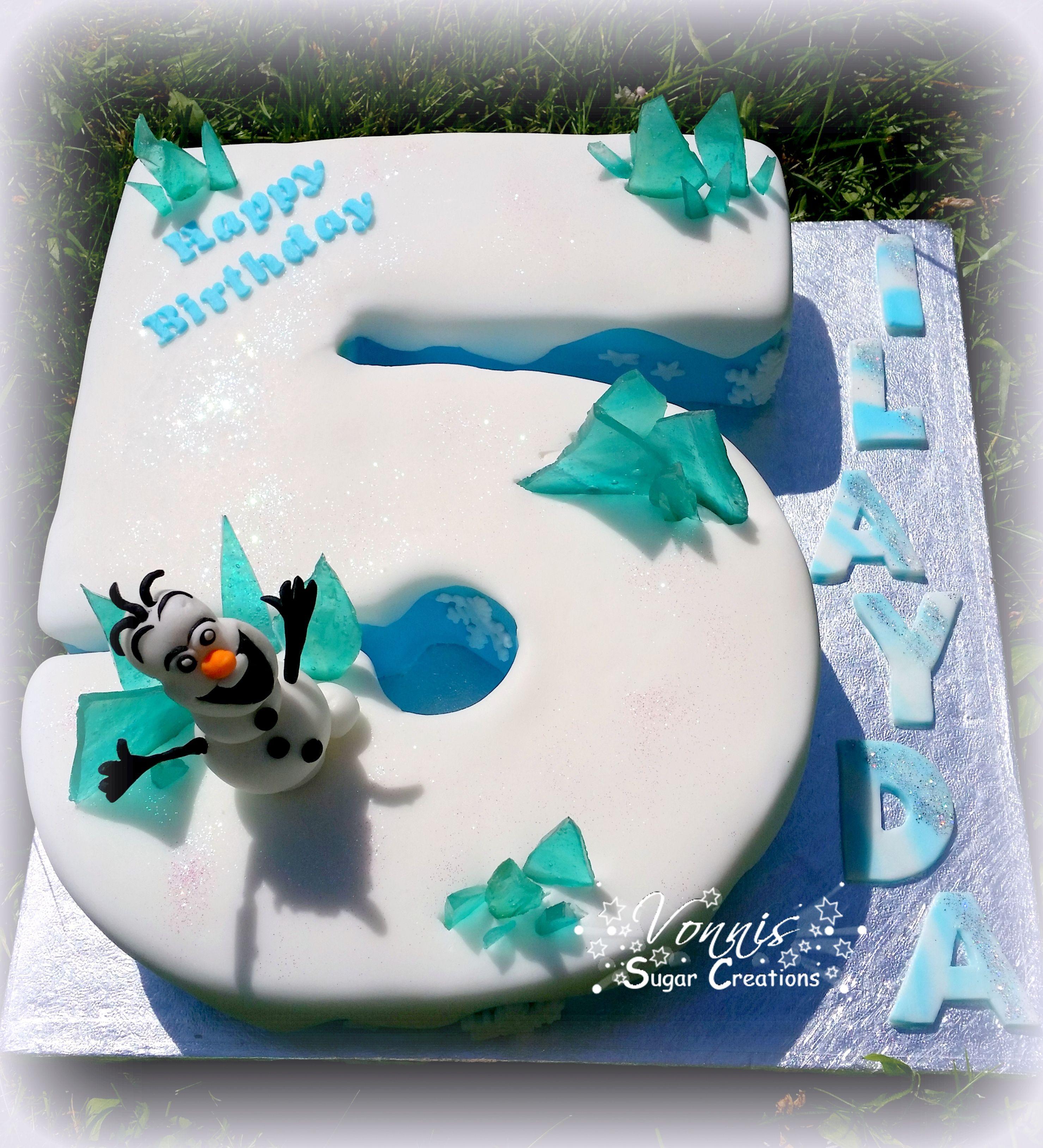 Number cake Frozen Nummer Eisknigin Torte Kuchen 5 Geburtstag