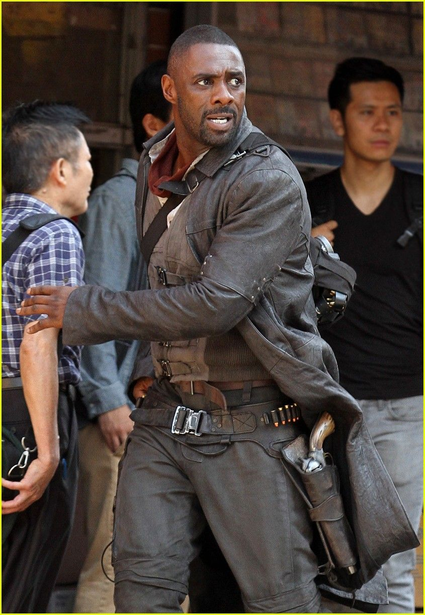 Idris elba films dark tower scenes with tom taylor as jake photo idris elba is all smiles while filming the dark tower scenes alongside his young