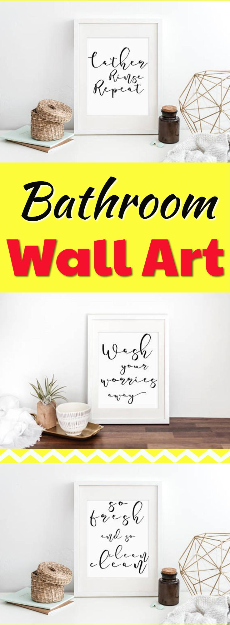 Cute Bathroom Wall Art Decor! Set of 3 prints, funny Bathroom art ...