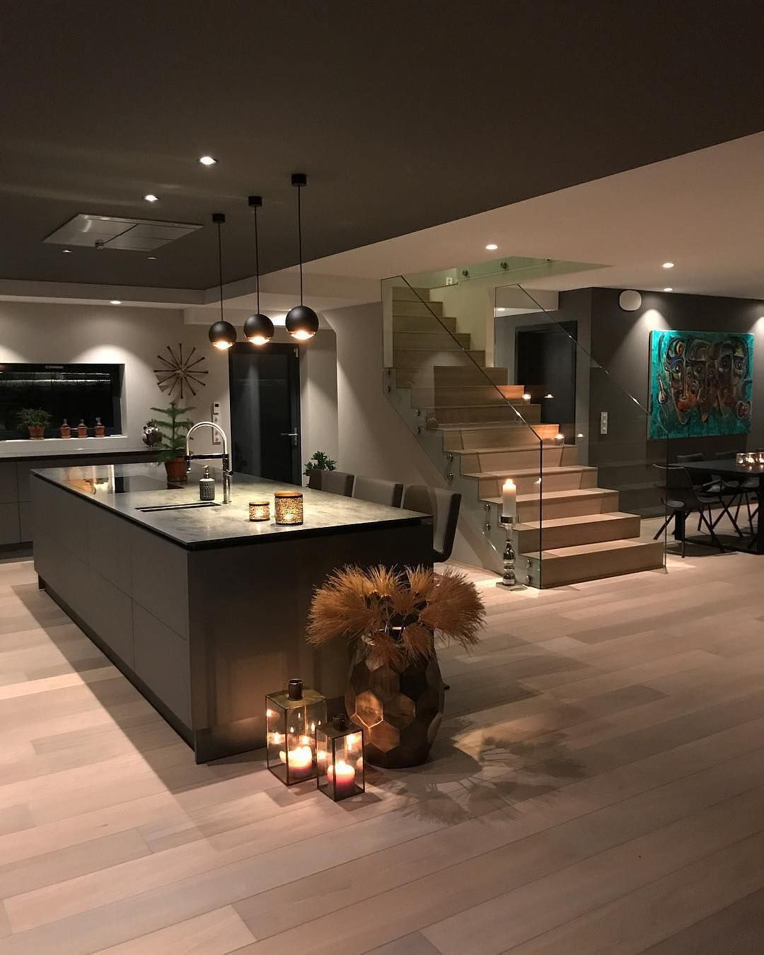 It can be difficult to create a warm & cozy vibe in a modern ...