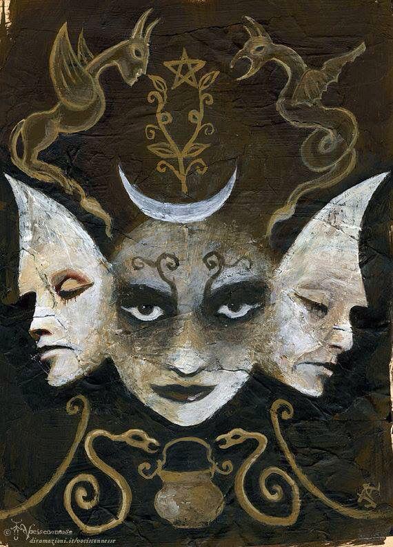 Hekete | God and goddess in 2019 | Hecate goddess, Triple ...