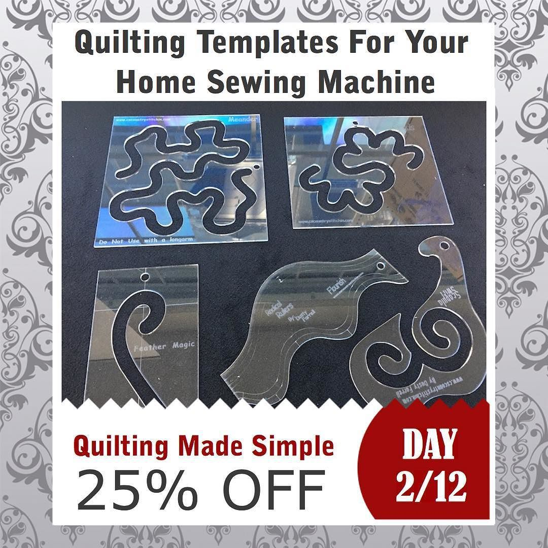 Domestic Free Motion Quilting Template KIT 25% OFF #quilting ...