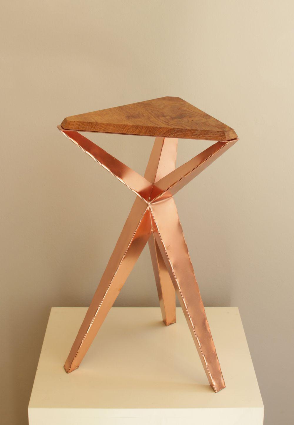 Rc 0 1 Tisch Hocker Table Stool Kupfer Cooper Folded Concept