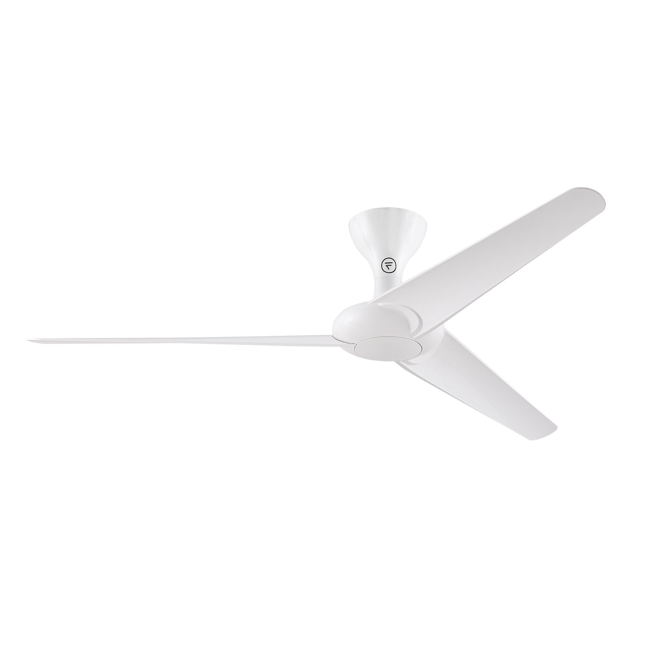 Fanimation Drone 60 inch Ceiling Fan Glossy White Glossy White