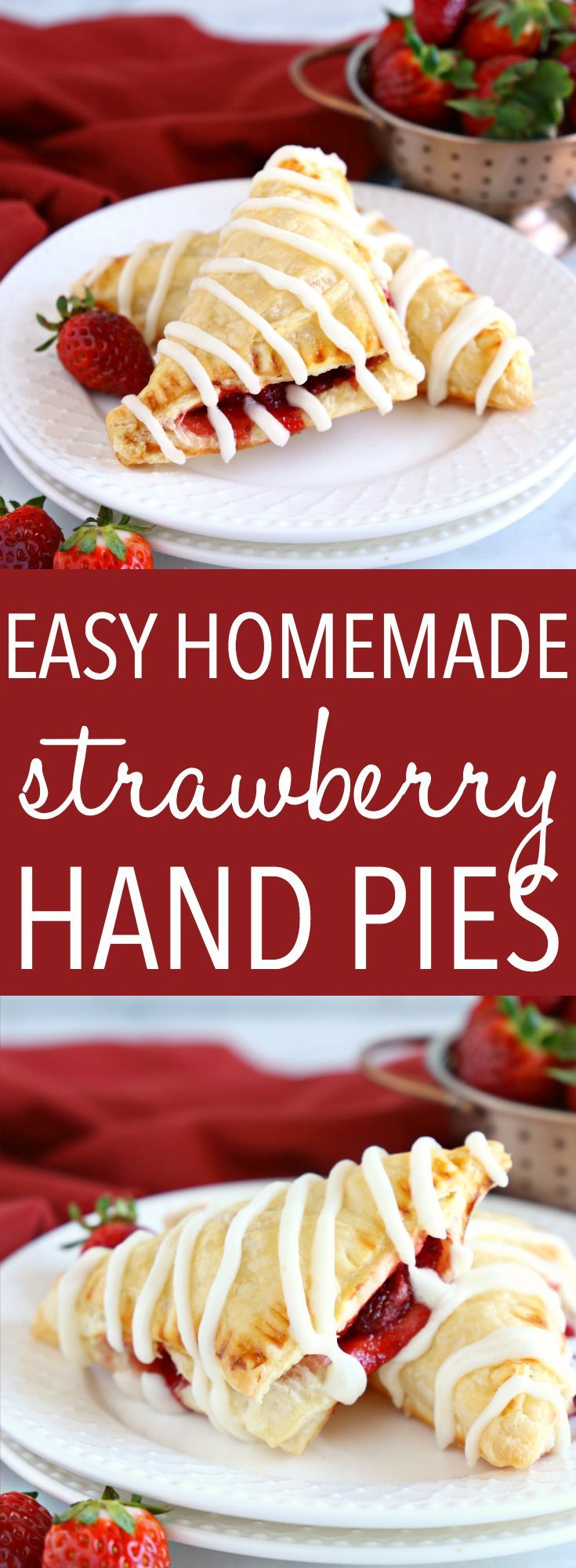 Easy Strawberry Hand Pies {Toaster Strudel Copycat} - The Busy Baker
