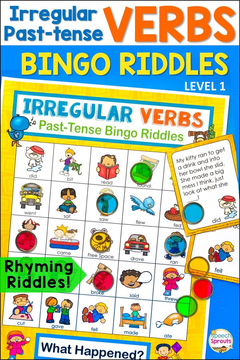 Irregular Past Tense Verbs Activities Have Never Been This Much Fun Guess The Rhyming Riddl Irregular Past Tense Irregular Past Tense Verbs Verbs Activities [ 1152 x 768 Pixel ]