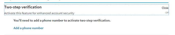 Two Step Verification linkedin
