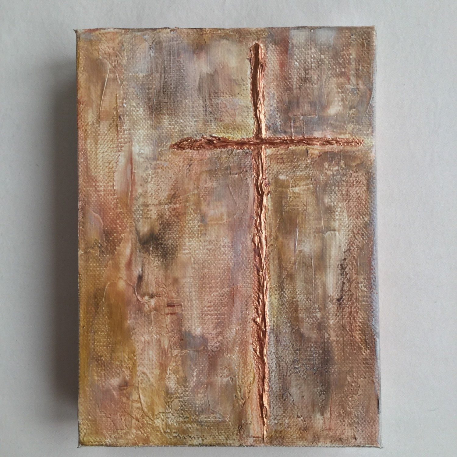 Cross painting religious painting religious wall art textured