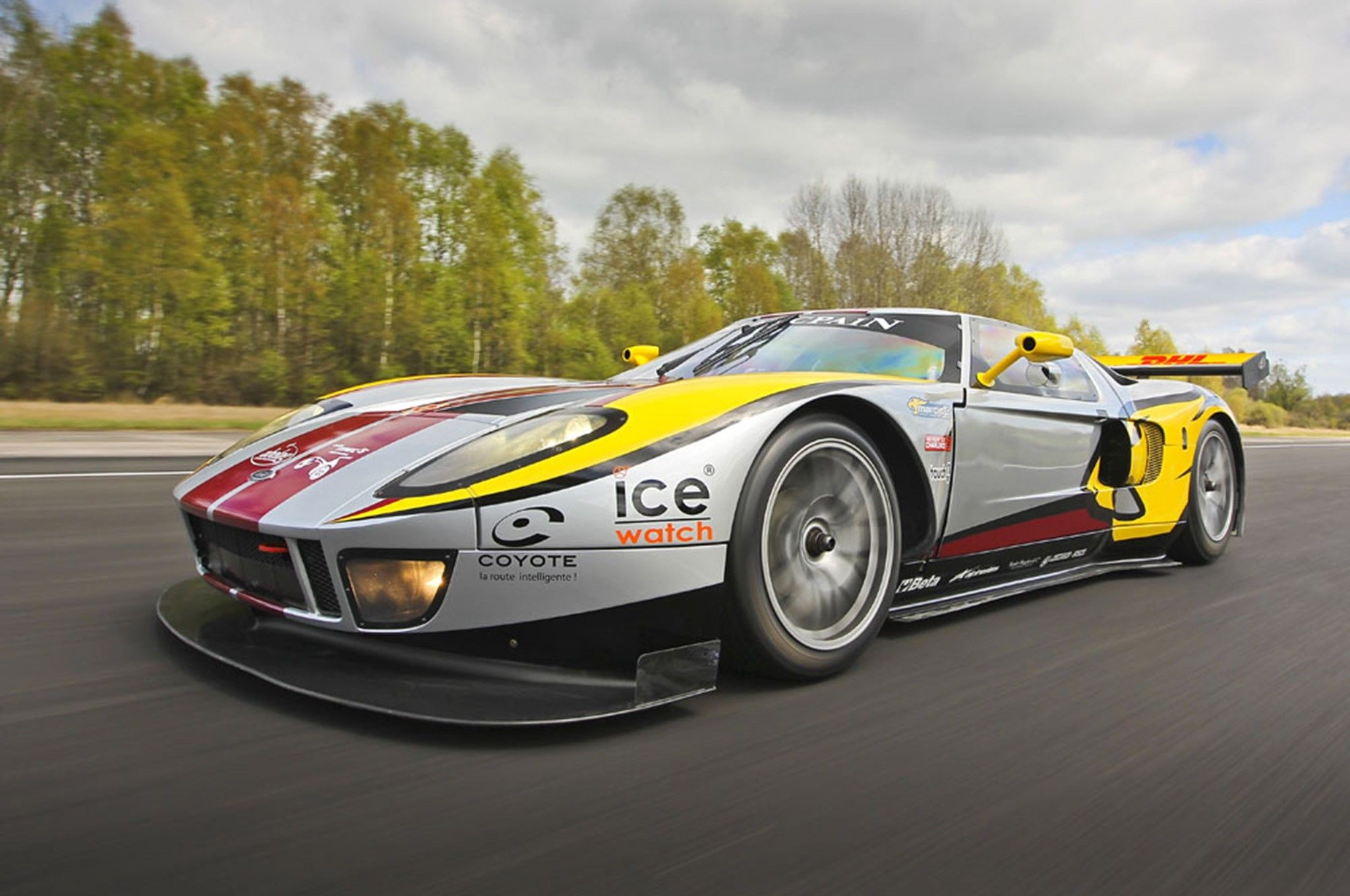 One Of Four Matech Ford Gt Race Cars For Sale On Ebay Motor Trend On