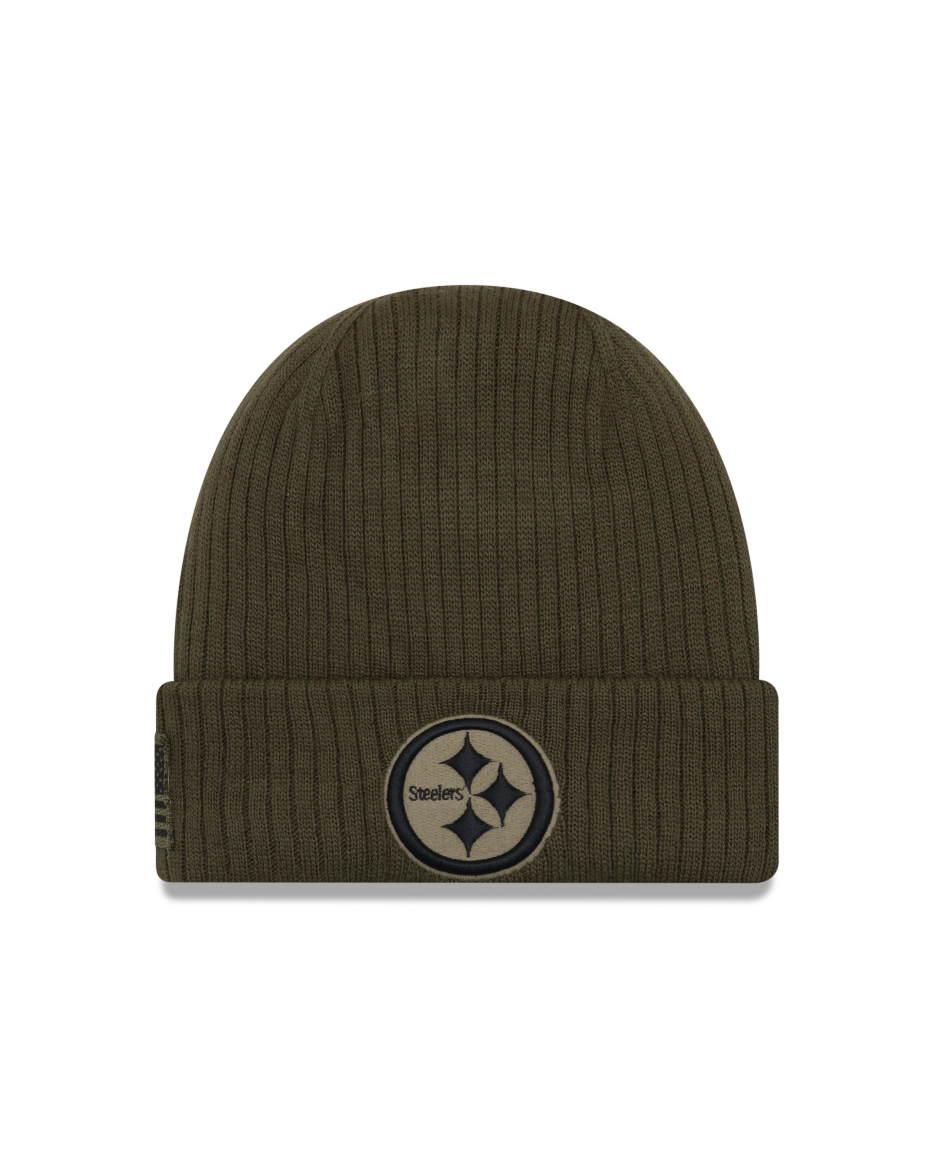 brand new 8b0ef a162d Pittsburgh Steelers NFL18 Salute To Service Cuffed Knit Hat