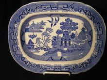 """Blue Willow Ridgway Platter 12"""""""