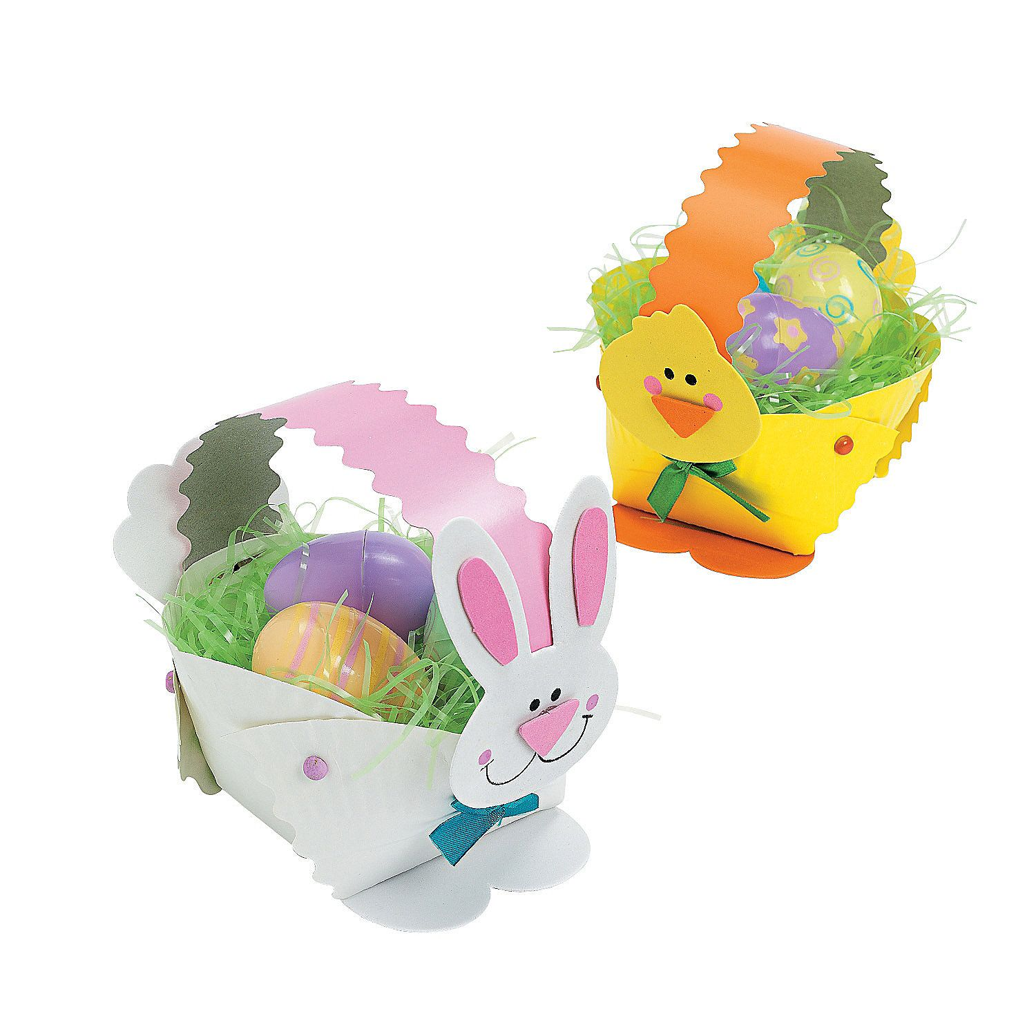 Paper plate bunny chick easter basket craft kit easter craft kits projects and easy craft ideas for kids find easter crafts for kids and fun craft supplies for the whole family negle Image collections
