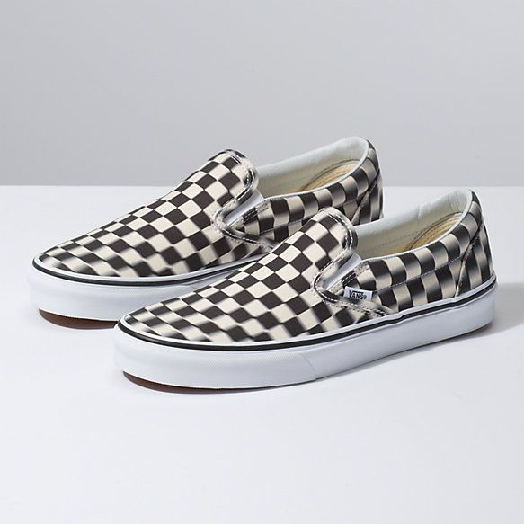 bfd4a738814 Blur Check Slip-On Vans Shoes