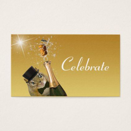 Cute Chipmunk Formal Celebration Business Card - party gifts gift ideas diy customize
