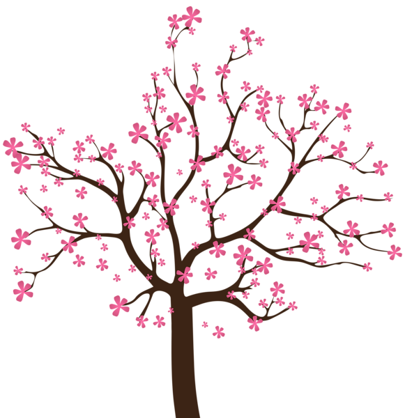 Spring Tree Png Clip Art Image Tree Drawing Cherry Blossom Art Spring Tree