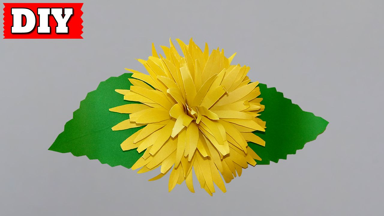 In This Video You Ll Learn How To Make Paper Flower Easy Step By