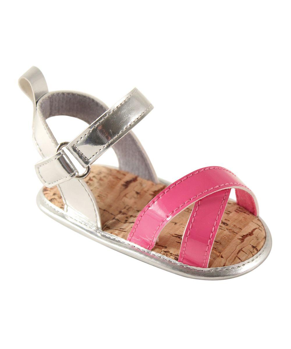 Silver & Pink Sandal - Infant