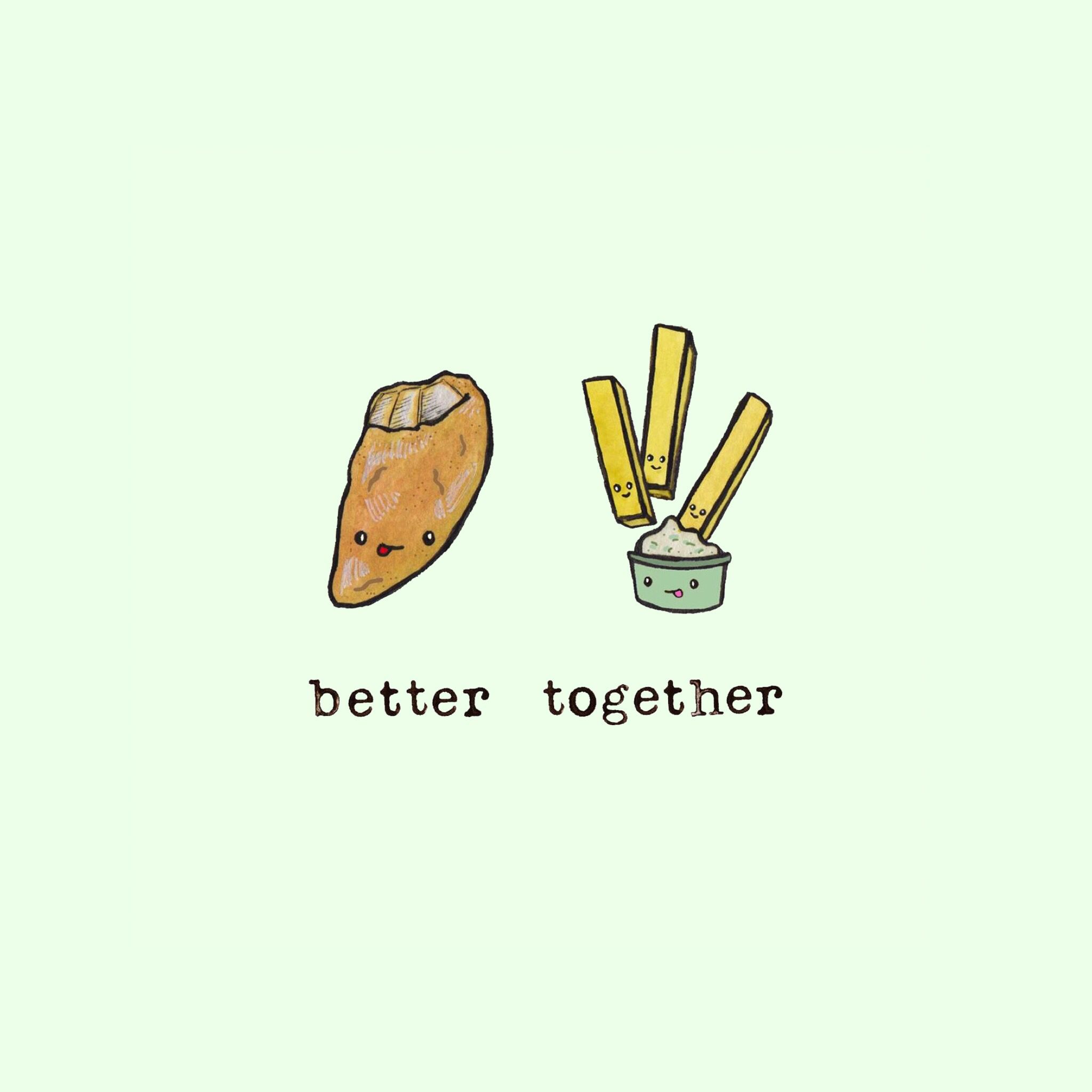Potato Dip Better Together Cute Wallpapers Cute Disney Wallpaper