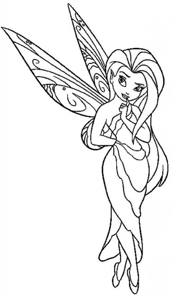 rosetta fairy coloring pages