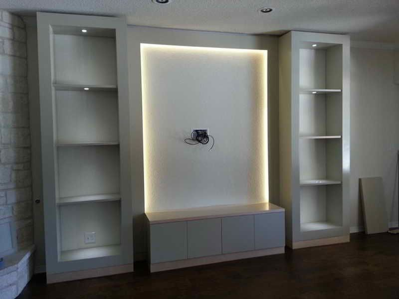 Living Room Built In Wall Units For Rooms Storage Ideas Diy Shelves Also