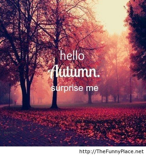 Hello Autumn, Surprise Me   Funny Pictures, Awesome Pictures, Funny Images  And Pics · AllahInspirational QuotesHello ...