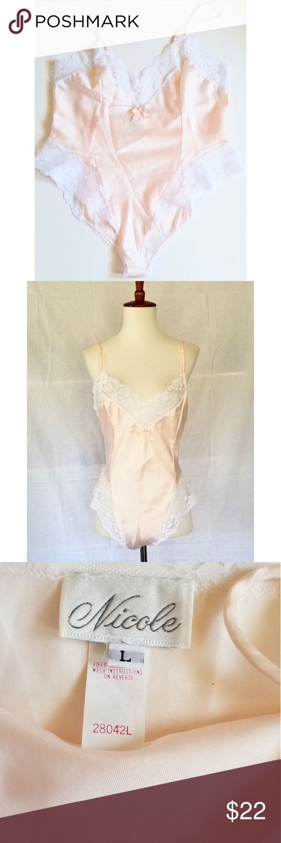 e0b1cb80e Vintage 80s french cut high cut teddy lingerie In like new condition this  slinky nylon and lace romper has very high cut thighs.