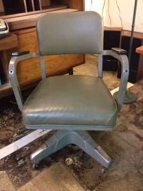 Attractive Vintage Metal Mad Men Office Chair   $125