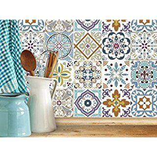 Decorative Tile Stickers Bathroom Blumen Decorative Tile Stickers Set 12 Units 6X6 Inchespeel